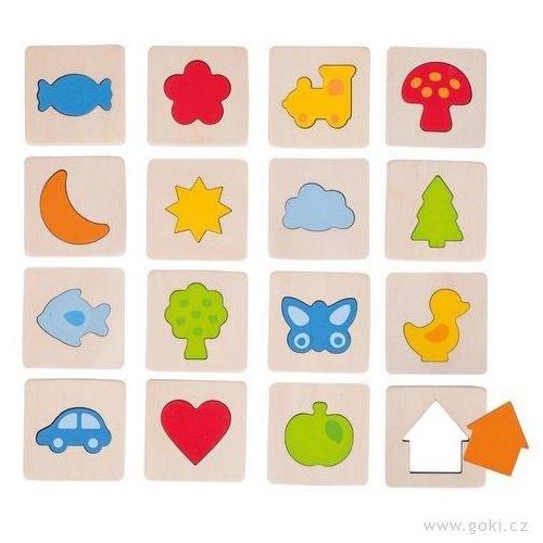 Hmatove drevene puzzle